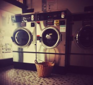 washers and dryers in laundromat